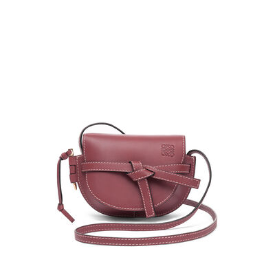 LOEWE Mini Gate Bag Wine front