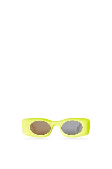 LOEWE Paula's Ibiza Original Sunglasses In Acetate Neon Yellow pdp_rd