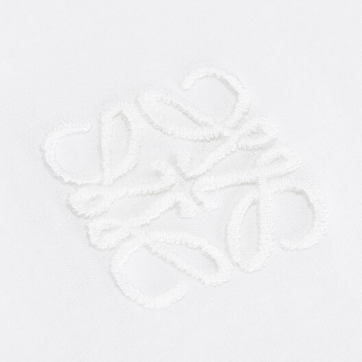 LOEWE アシメトリックアナグラムTシャツ ホワイト front