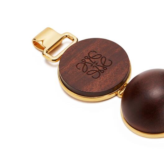 LOEWE Mini Globe Bracelet Brown front