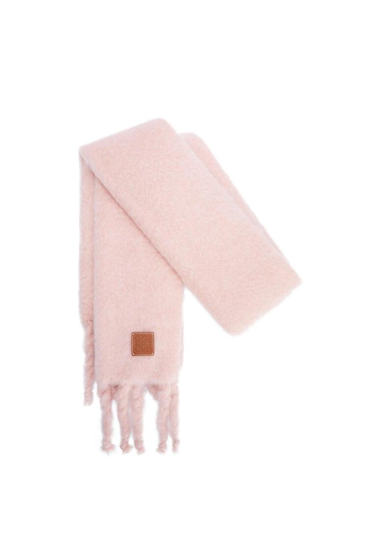 LOEWE 马海毛和羊毛围巾 淡粉色 pdp_rd