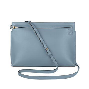 LOEWE T Pouch Bag Stamp Stone Blue front