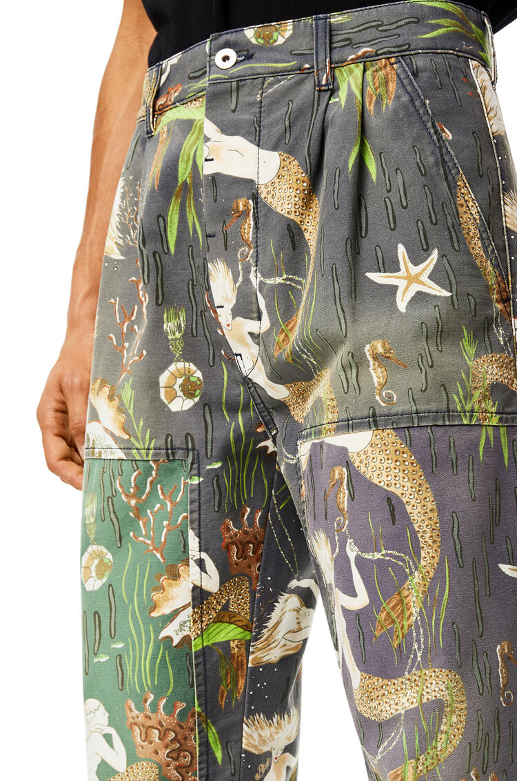 LOEWE Trousers In Mermaid Cotton Multicolor pdp_rd