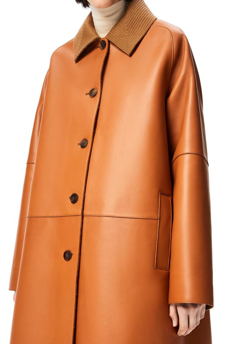 LOEWE Bonded coat in nappa and wool Tan pdp_rd