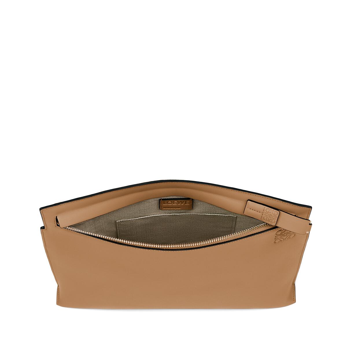 LOEWE T Pouch Bag Stamp Mink Color front