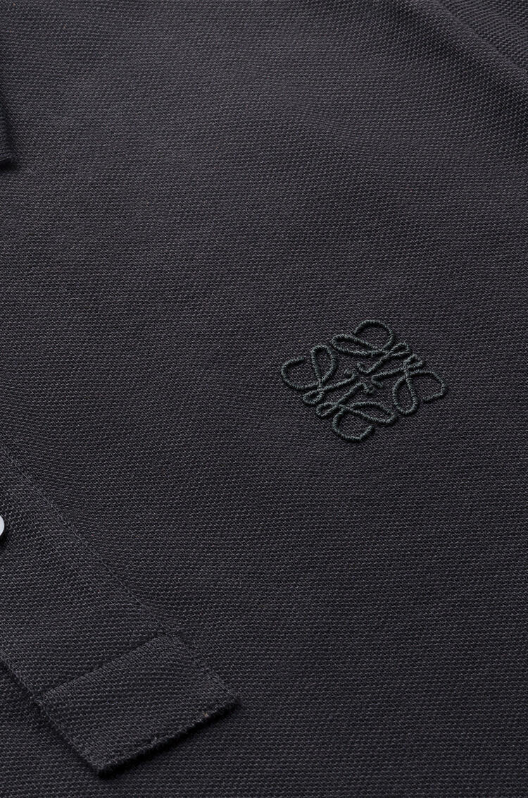 LOEWE Polo Anagrama en algodón Negro pdp_rd
