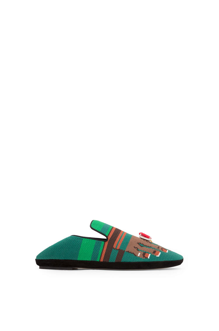 LOEWE Embroidered Slipper Toes Green/Brown pdp_rd