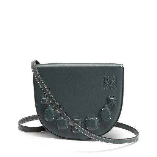 LOEWE Heel Mini Bag Jeweled Cypress front