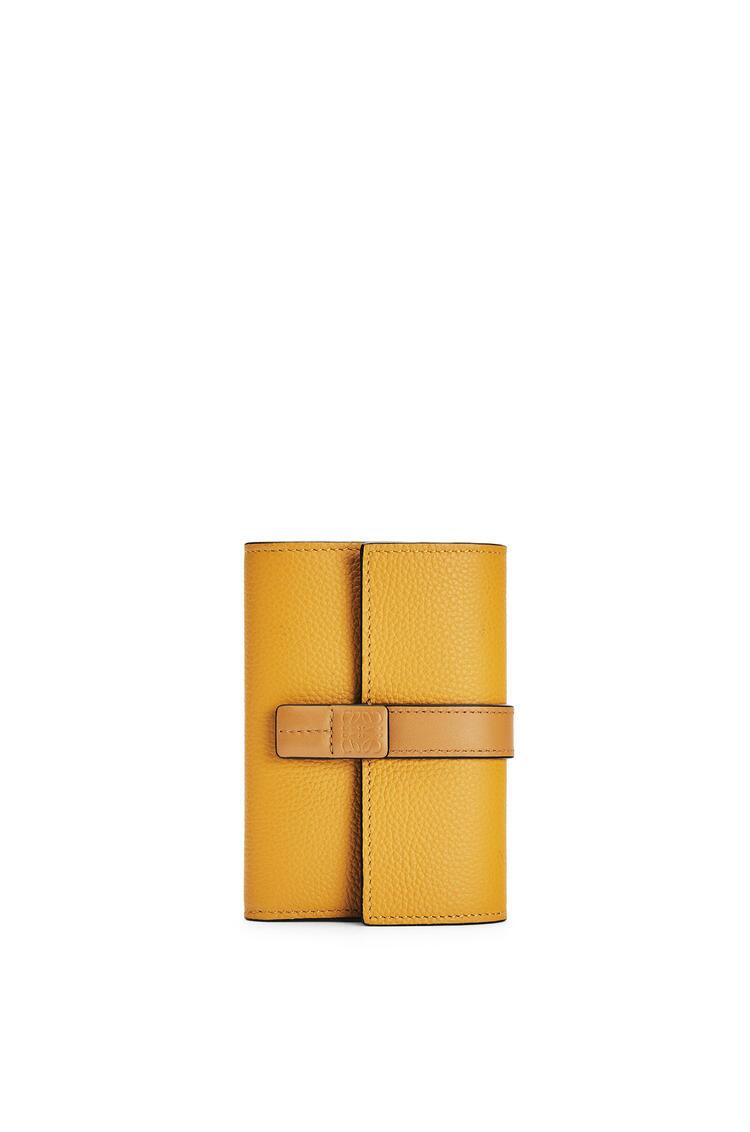 LOEWE Small vertical wallet in soft grained calfskin Sunflower/Honey pdp_rd