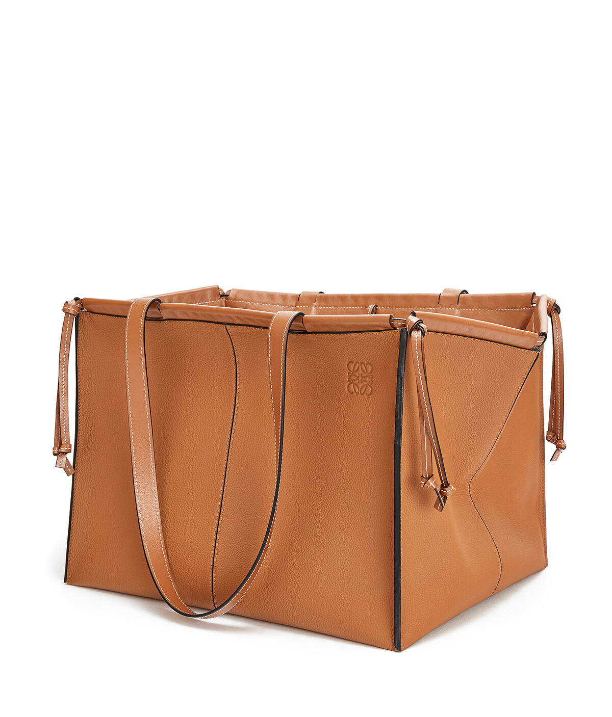 LOEWE 大号Cushion Tote手袋 Light Caramel front