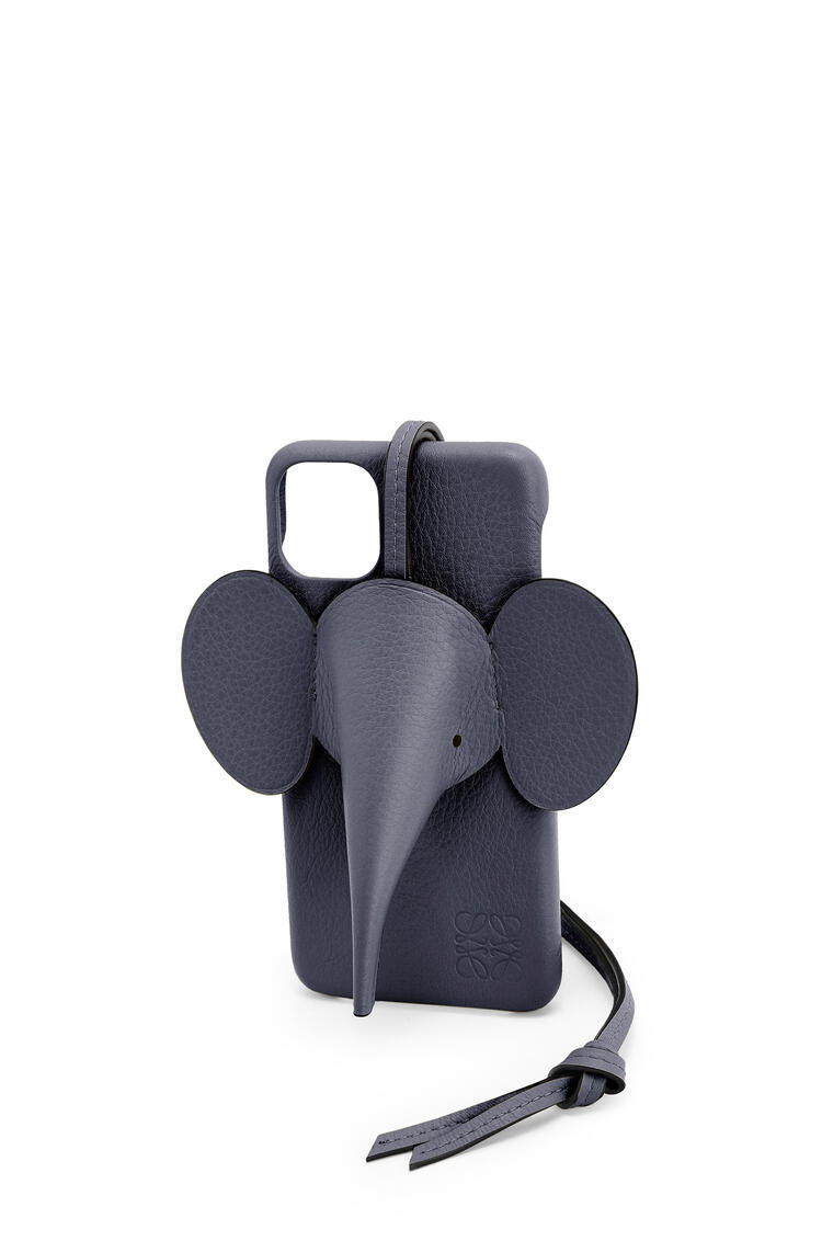 LOEWE Elephant cover for iPhone 11 Pro Max in classic calfskin Deep Blue pdp_rd