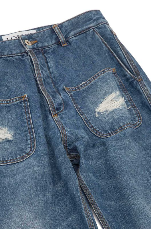 LOEWE Patch Pocket Jeans Stonewashed Blue front