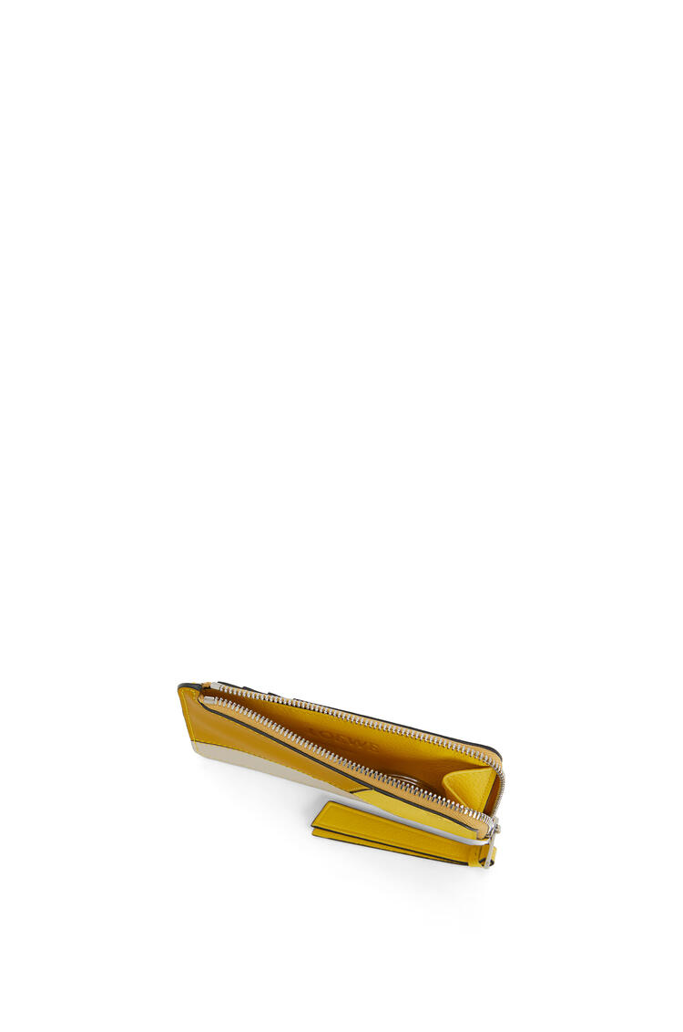 LOEWE Puzzle coin cardholder in classic calfskin Ochre/Yellow pdp_rd