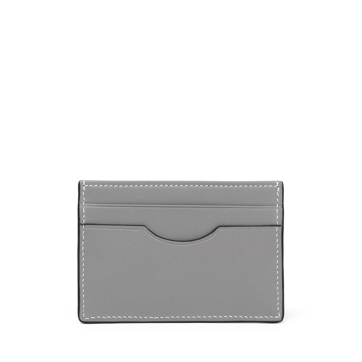 LOEWE Plain Card Holder Ginger/Smoke Grey front