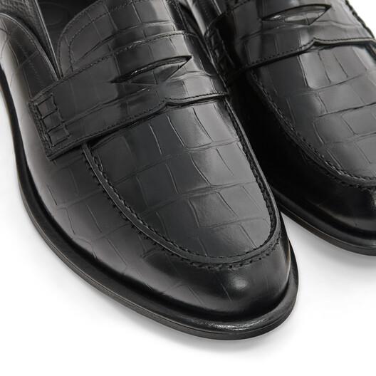 LOEWE Slip On Loafer Black/Black front