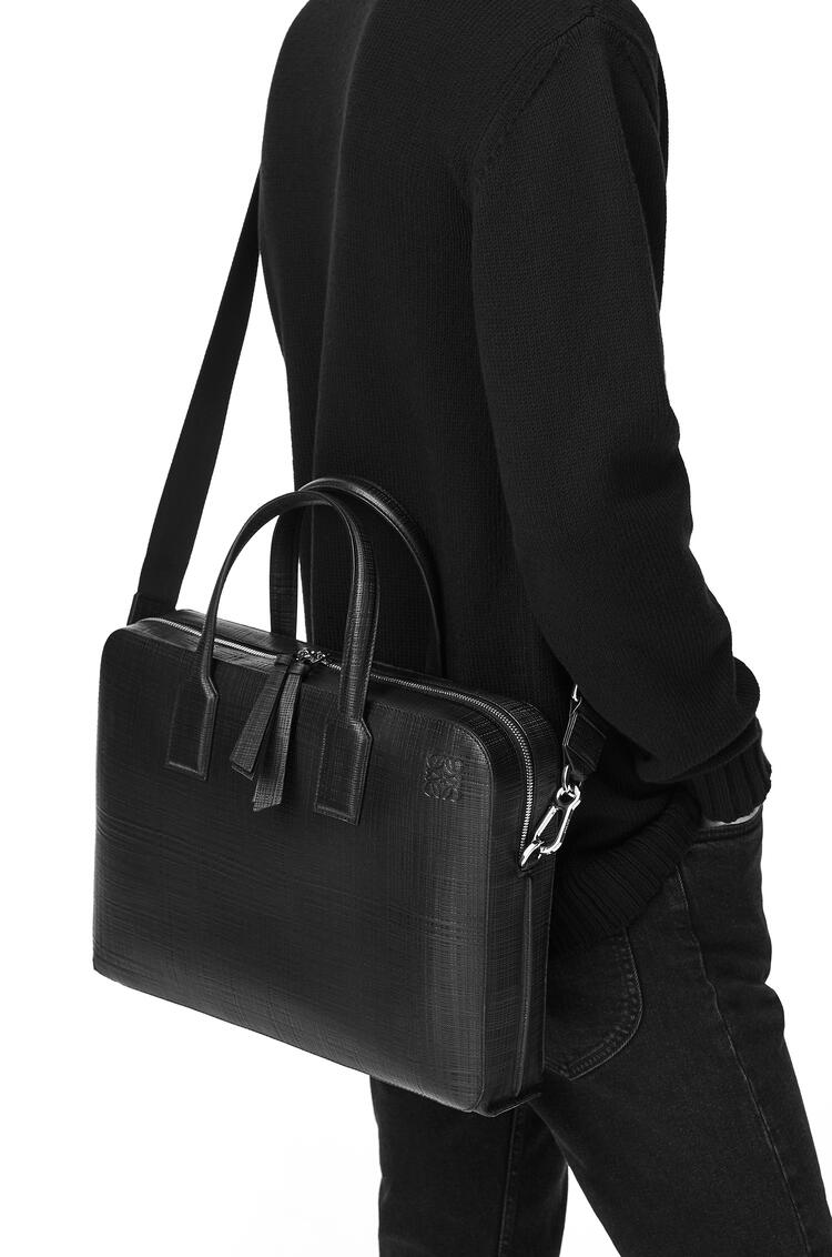 LOEWE Goya thin briefcase in calfskin Khaki Green pdp_rd