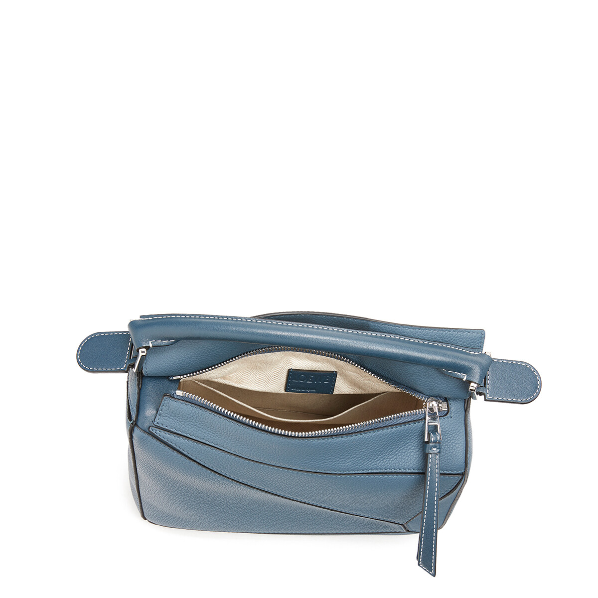 LOEWE Puzzle Small Bag Steel Blue front