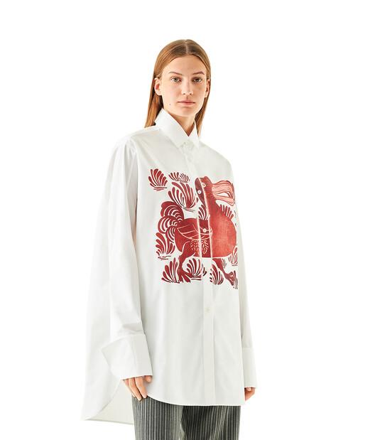 LOEWE Oversize Shirt Dodo White/Red front