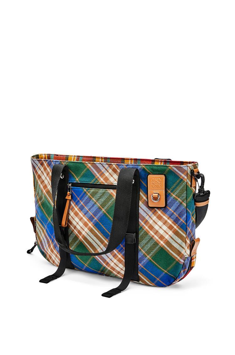 LOEWE Tote bag in tartan Multicolor pdp_rd
