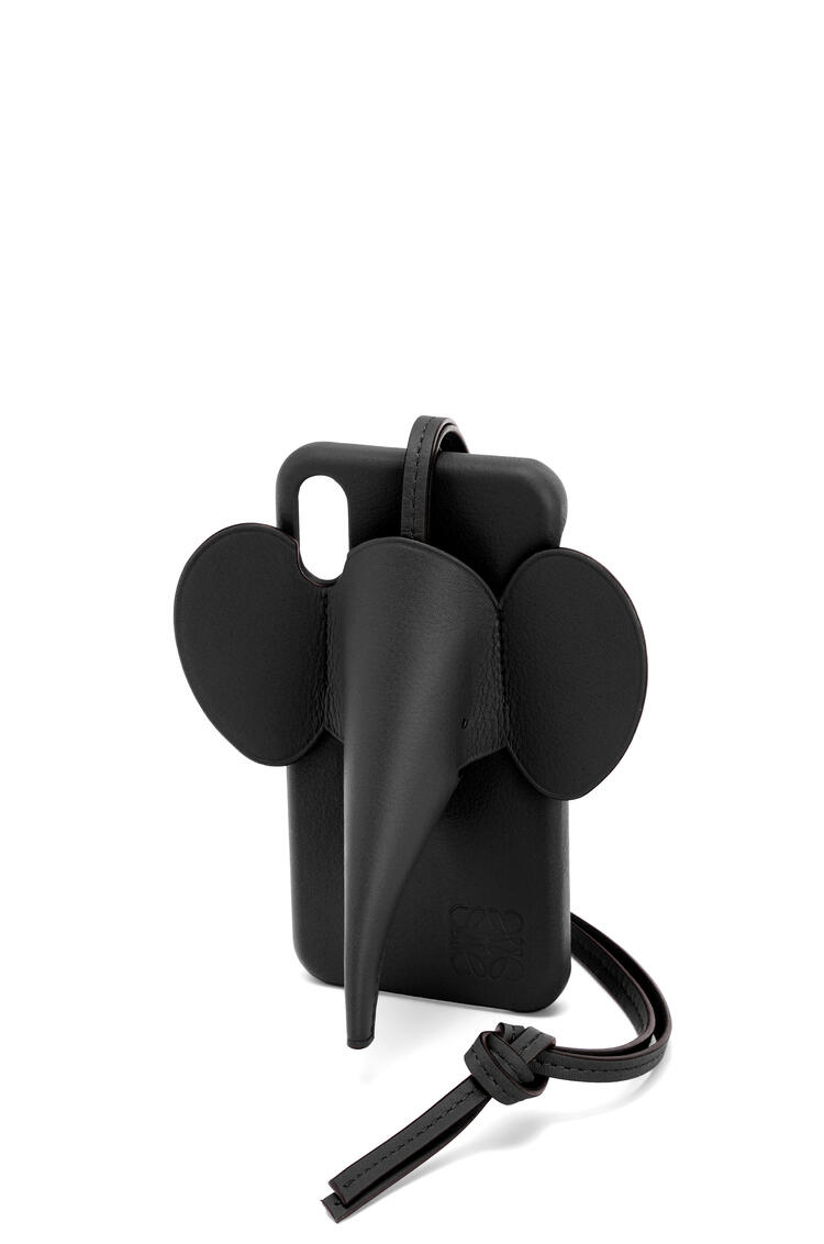 LOEWE Elephant cover for iPhone XS Max in classic calfskin Black pdp_rd