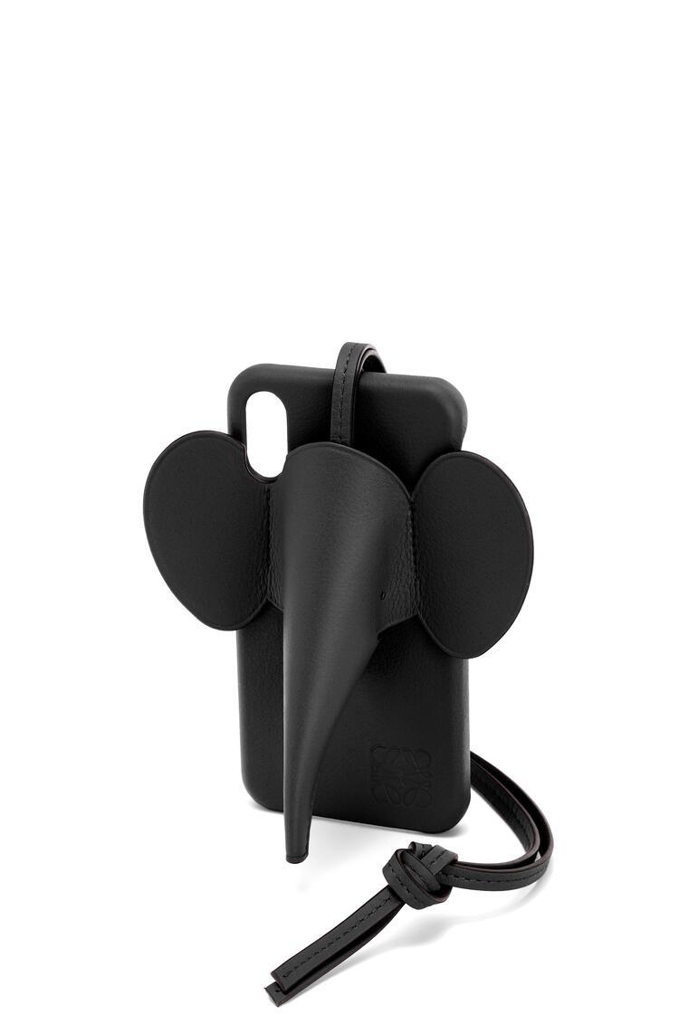 LOEWE Funda Elephant para iPhone XS Max en piel de ternera clásica Negro pdp_rd