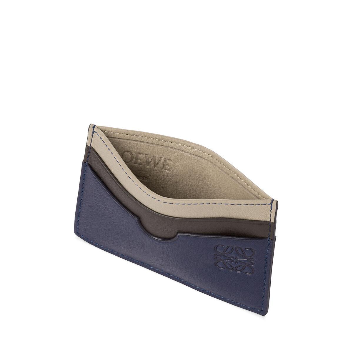 LOEWE Plain Card Holder Blue/Multicolor front