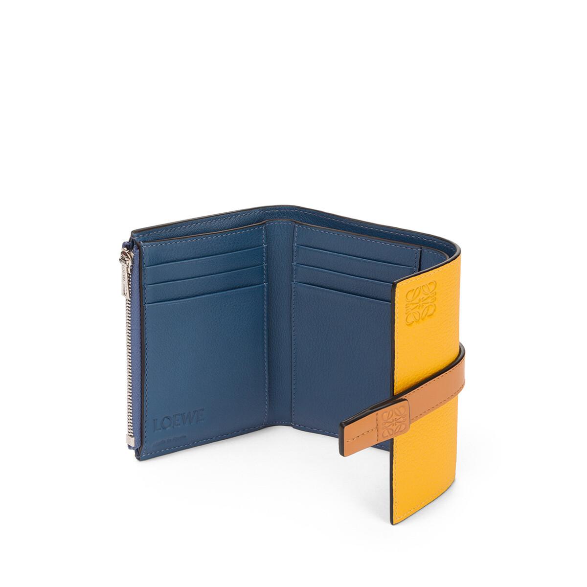 LOEWE Small Vertical Wallet Yellow Mango/Honey front