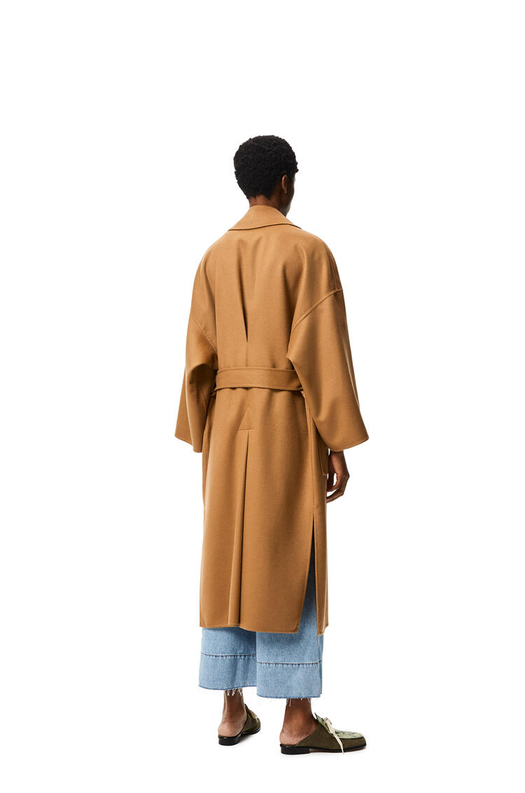 LOEWE Oversize belted coat in wool and cashmere Camel pdp_rd