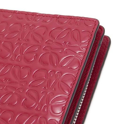LOEWE 袖珍拉链钱包 覆盆莓色 front