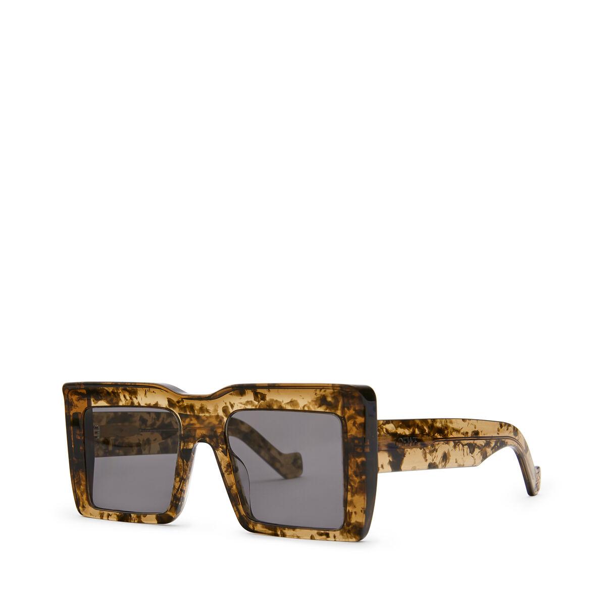 LOEWE Oversize Square Sunglasses Khaki Green front