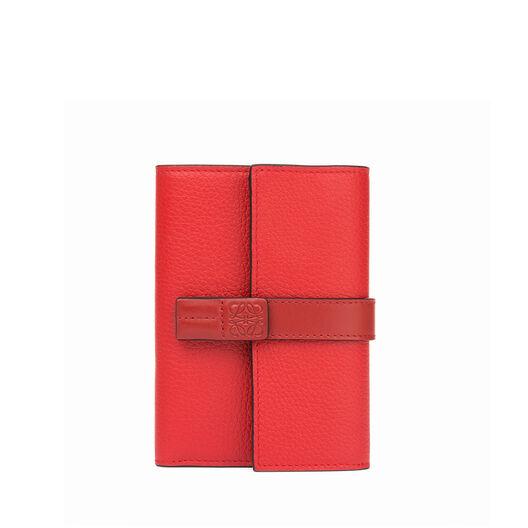 LOEWE Small Vertical Wallet Scarlet Red/Brick Red front