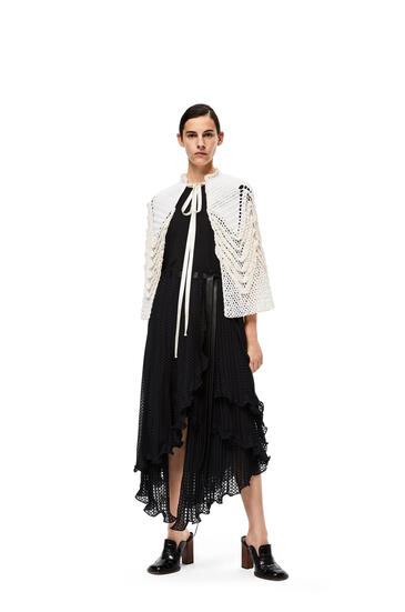 LOEWE Fil coupe skirt in polyester Black pdp_rd