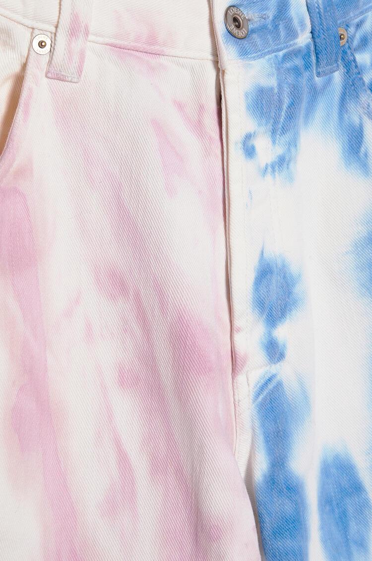 LOEWE Jeans in tie dye cotton Blue/Pink pdp_rd