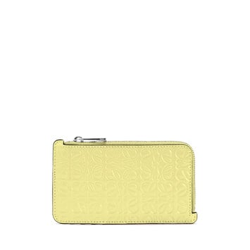 LOEWE Coin Cardholder Yellow front