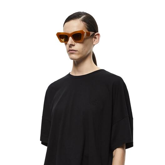 LOEWE Acetate Cateye Sunglasses 杏桃色 front