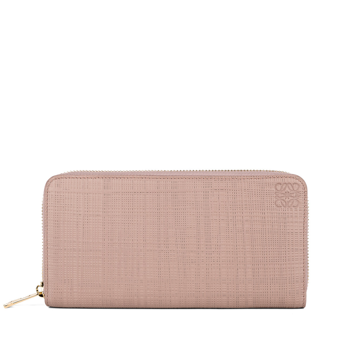 LOEWE Linen Zip Around Wallet Blush front