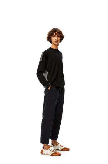 LOEWE Anagram Embroidered Sweater In Cashmere Black/Grey pdp_rd