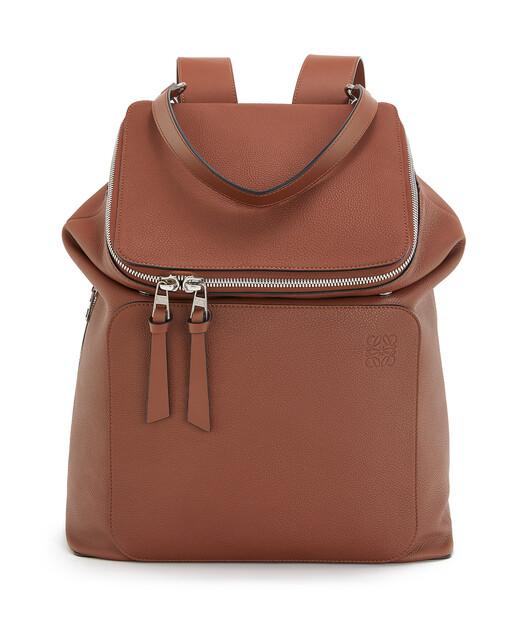 LOEWE Goya Backpack Cognac front