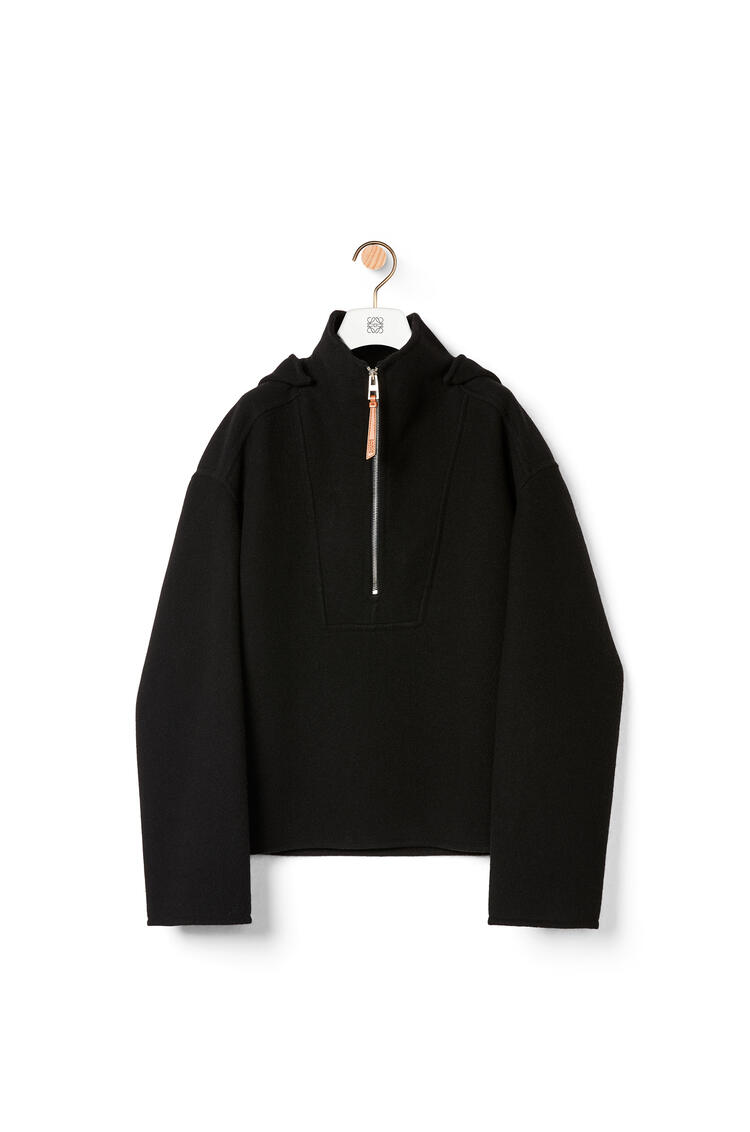 LOEWE Hooded pullover in wool and cashmere Black pdp_rd