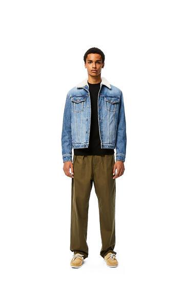 LOEWE Jacket in denim and shearling Blue pdp_rd