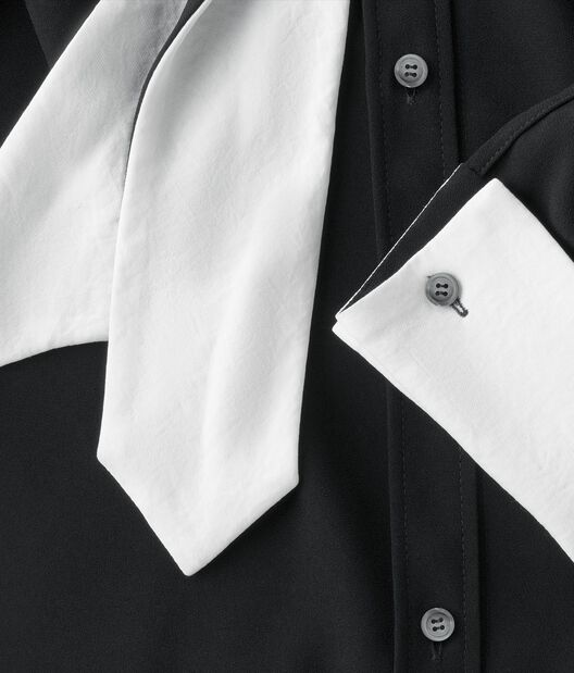 LOEWE Black & White Lavaliere Blouse Negro/Blanco all
