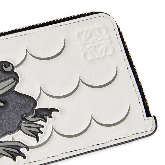 LOEWE Coin Cardholder Large Animals Soft White/Black front