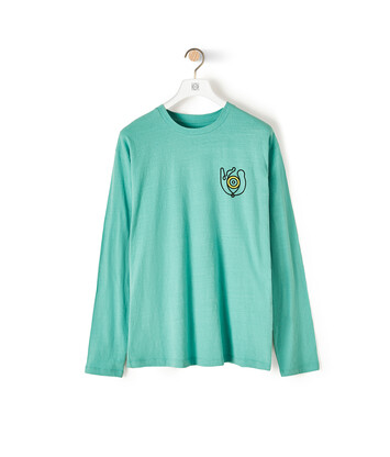 LOEWE Eln Long Sleeve T-Shirt Mint Green front