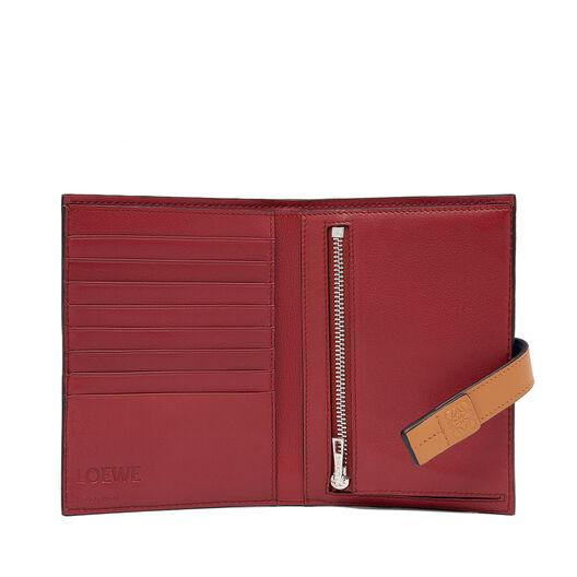 LOEWE Medium Vertical Wallet Light Caramel/Pecan Color  all