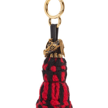 LOEWE Animal Xl Tassel Charm Red/Black front