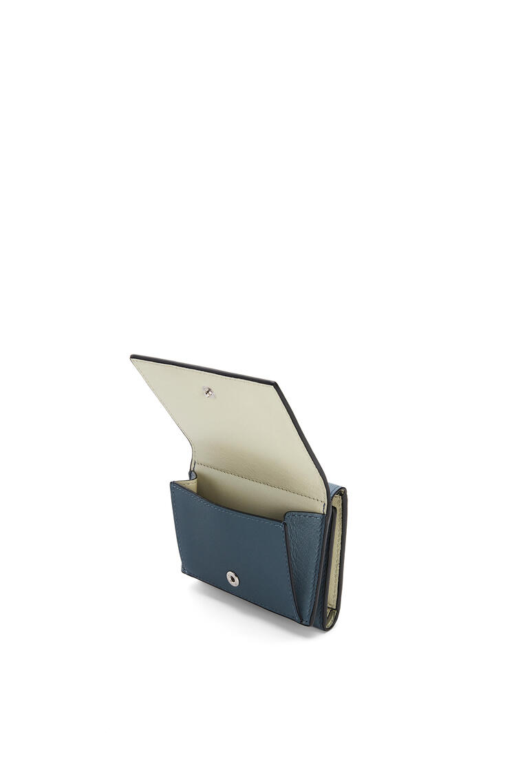 LOEWE Brand trifold 6 cardholder in calfskin Storm Blue/Marble Grey pdp_rd