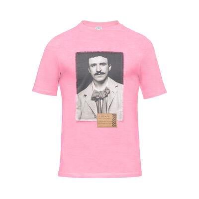 LOEWE T-Shirt Portrait Pink front