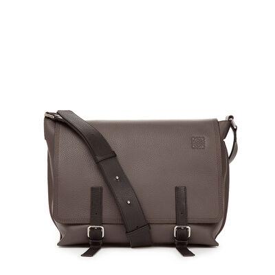 LOEWE Military Messenger Small Bag Dark Grey/Black front