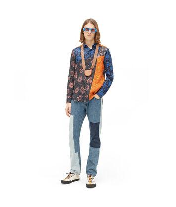 LOEWE Paula Patchwork Shirt Negro/Multicolor front