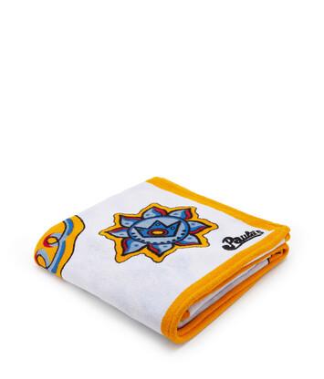 LOEWE 135X190 Paula Print Towel Blanco/Multicolor front